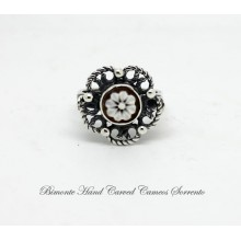 """Flower of Joy"" Filigree Cameo Ring"