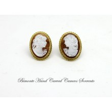 """Bella"" Cameo Earrings"