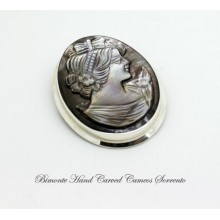 Mother of Pearl Cameo Brooch and Pendant