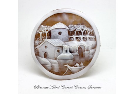 """""""The Fishing Village"""" Cameo"""