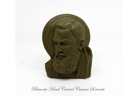 """""""Padre Pio"""" Lava Stone Cameo"""