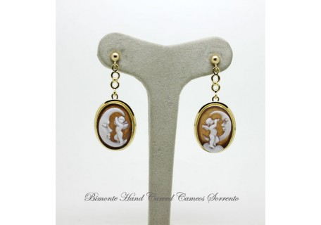 """The Cherub and the Moon"" Cameo Earrings"