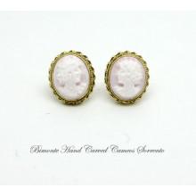 """""""Pink Venus"""" Cameo Earrings"""