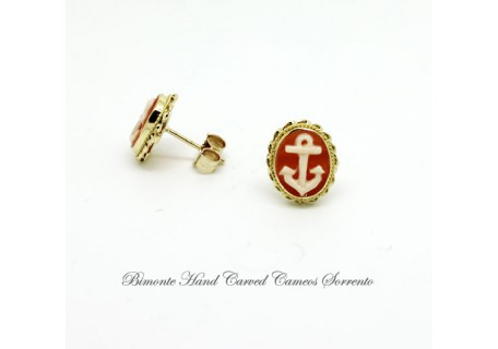 """Anchor"" Cameo Earrings"