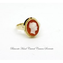 """Ancella"" Antique Cameo Ring"