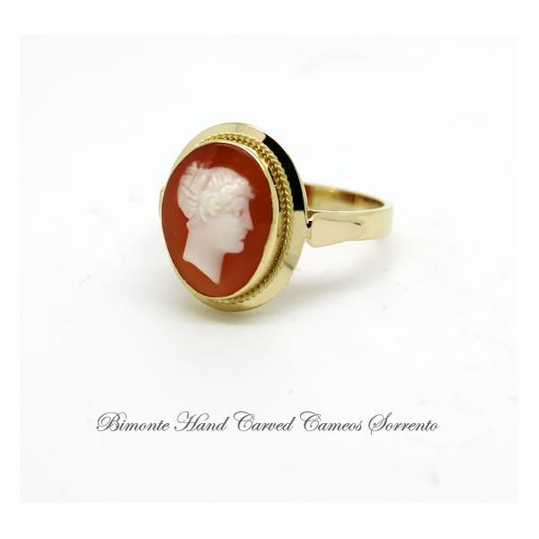 Ancella antique cameo ring bimonte sorrento ancella antique cameo ring aloadofball Choice Image