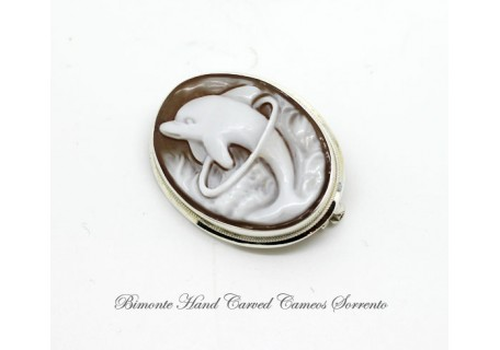 """Dolphin"" Cameo Brooch and Pendant"