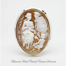 """The Story of the Beauty"" Cameo Brooch and Pendant"