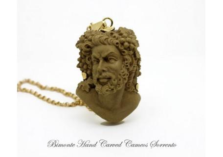 """Dionysus"" Lava Stone Cameo Necklace"