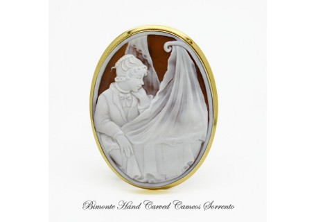 """I' ll Be here"" Cameo Brooch and Pendant"