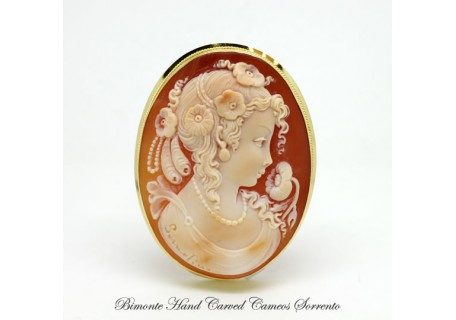 """Clori"" Cameo Brooch and Pendant"