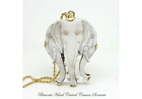 """""""Elefanti"""" Cameo Necklace"""