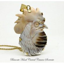 """Rooster"" Cameo Necklace"