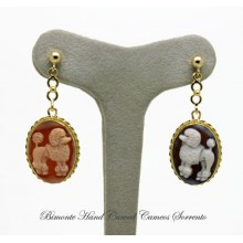 """Puddle"" Cameo Earrings"