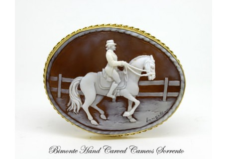 """Dressage"" Cameo Brooch and Pendant"