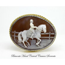 """""""Dressage"""" Cameo Brooch and Pendant"""