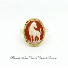"""Wild Horse"" Cameo Ring"