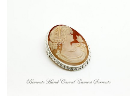 """The Girl and the Bird"" Cameo Brooch and Pendant"