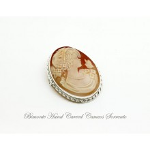 """""""The Girl and the Bird"""" Cameo Brooch and Pendant"""