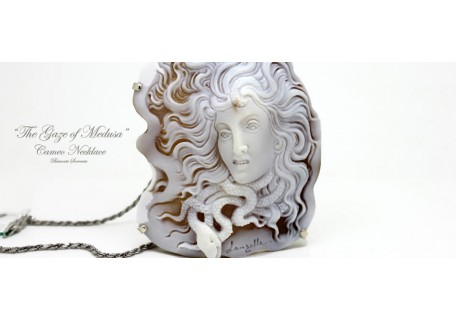 """The Gaze of Medusa"" Cameo Necklace"
