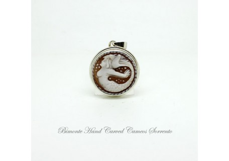 """The Siren of Sorrento"" Cameo Pendant"