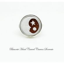 """Moon and Star"" Cameo Ring"