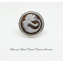"""The Mermaid of Sorrento"" Cameo Ring"