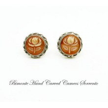 """Rose"" Cameo Earrings"