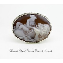 """Venus and the Lion"" Cameo Brooch and Pendant"