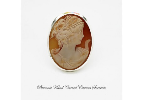 """Cerere"" Cameo Brooch and Pendant"
