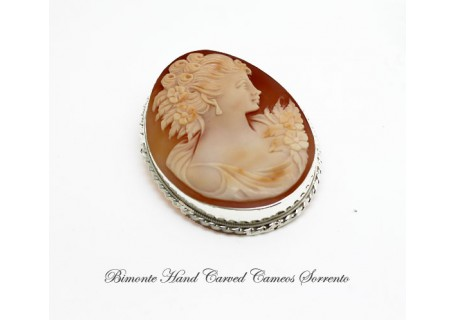 """Girl"" Cameo Brooch and Pendant"