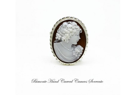 """Baccante"" Cameo brooch and pendant"