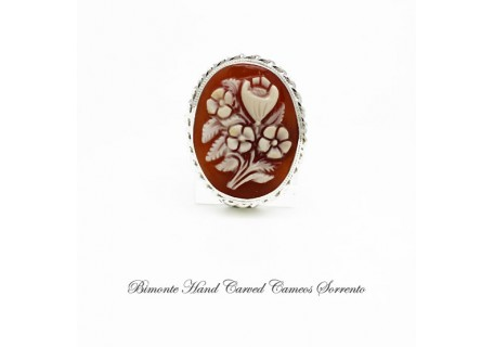 """Fiori"" Cameo Brooch and Pendant"