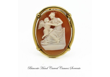 """Venus and Love"" Antique Cameo"
