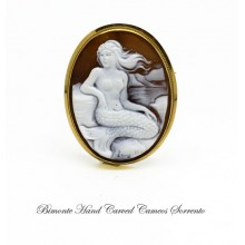 """Little Mermaid"" Cameo Brooch and Pendant"
