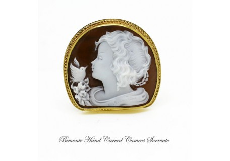 """The Young Girl"" Cameo Brooch and Pendant"