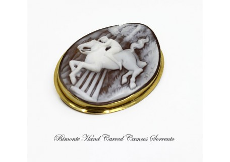 """""""In the Country"""" Cameo Brooch and Pendant"""