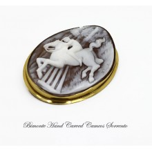 """In the Country"" Cameo Brooch and Pendant"