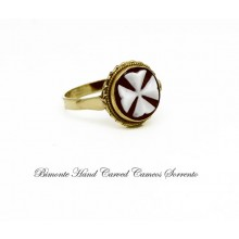 """The Eight Point Cross"" Cameo Ring"