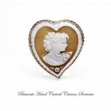 """In My Heart"" Cameo Brooch and Pendant"