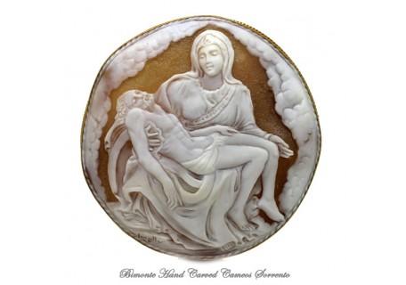 """""""La Pietà"""" Cameo Brooch and Pendant"""