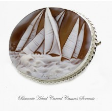 """Regatta"" Cameo Brooch and Pendant"