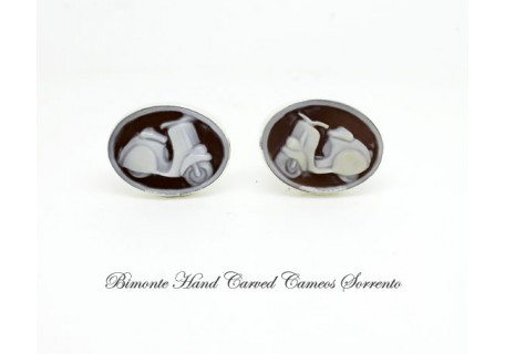 """Vespa Scooter"" Cameo Cufflinks"