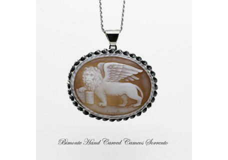 """""""The Lion of Venice"""" Cameo Necklace"""