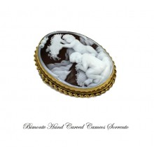 """""""Two Kids"""" Cameo Brooch and Pendant"""
