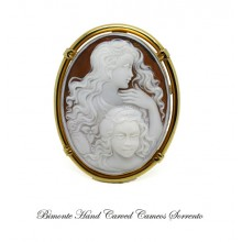 """""""Mother and Daughter"""" Cameo Brooch and Pendant"""