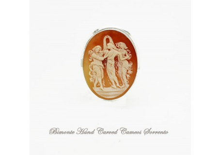 """""""The Botticelli's Three Graces"""" Cameo Brooch and Pendant"""