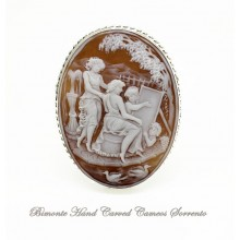 """""""The Painter"""" Cameo Brooch and Pendant"""