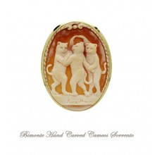 """""""The Three.....Cats"""" Cameo Brooch and Pendant"""