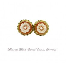 ''Flower of Joy'' Cameo Earrings